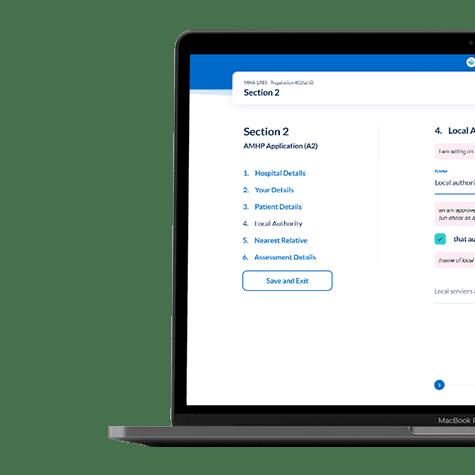 SMAHF-laptop Digital Mental Health Act Assessment setup