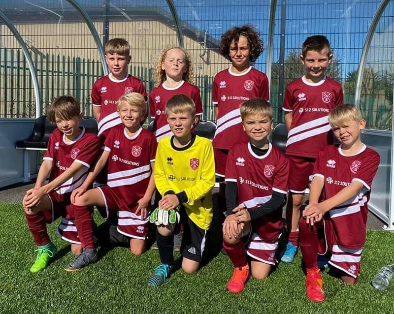 Paulton Rovers U10's football team S12 Supports Mental Health