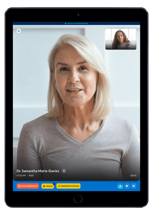 Product-videocalling-ipad Secure Assessment Video calling